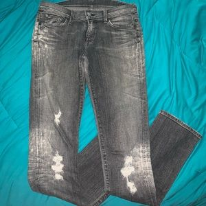Citizens of Humanity Grey distressed jeans
